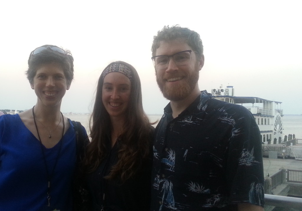 Kate, Kristina and Simon at the Charleston Aquarium during ISSRM