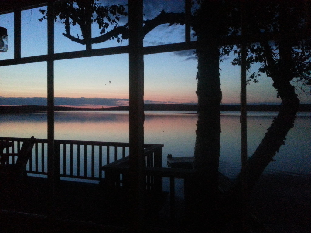 Cottage view at Davidson Lake