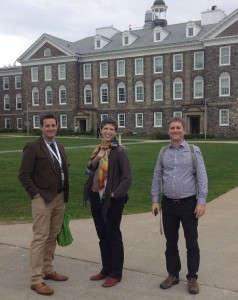 Michael Kerford, Eco Canada, me, and Brendon Larson, University of Waterloo, in the Dal quad during CCUEN 2016 (photo: Ingrid Leman Stefanovic).