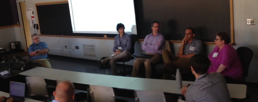 Tom Measham, Rich Stedman, Jeffrey Jacquet and Kathy Halvorsen at the culminating Energy Landscapes panel session at ISSRM 2016.