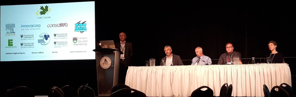Kenny Corscadden moderates the CSBE panel with David Burton, Peter Swinkels, Charles Bourque and me.