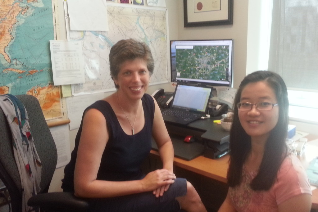 With Jingwen (June) Qin on her last day as a Mitacs Globalink intern.
