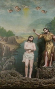 Jesus rests on a cork earth in a diorama at the Igreja de São Francisco.