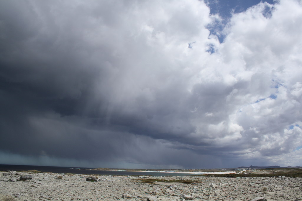 All kinds of weather brewing at Cape Pembroke, near Stanley, East Falkland, November 2016.