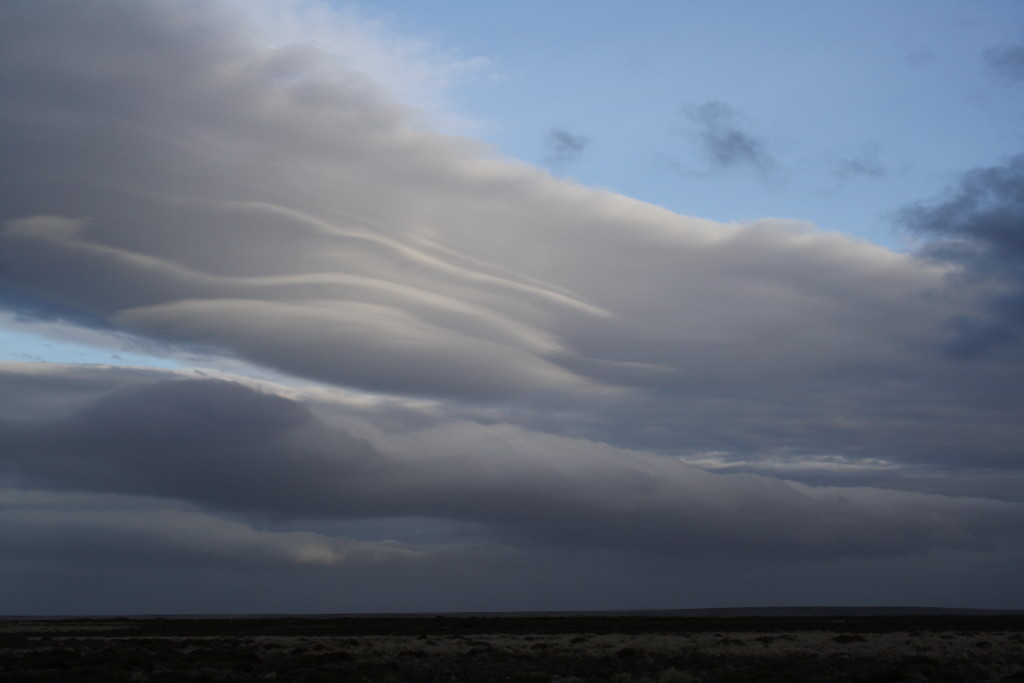 Lenticular clouds, North Camp, East Falkland, November 2016.
