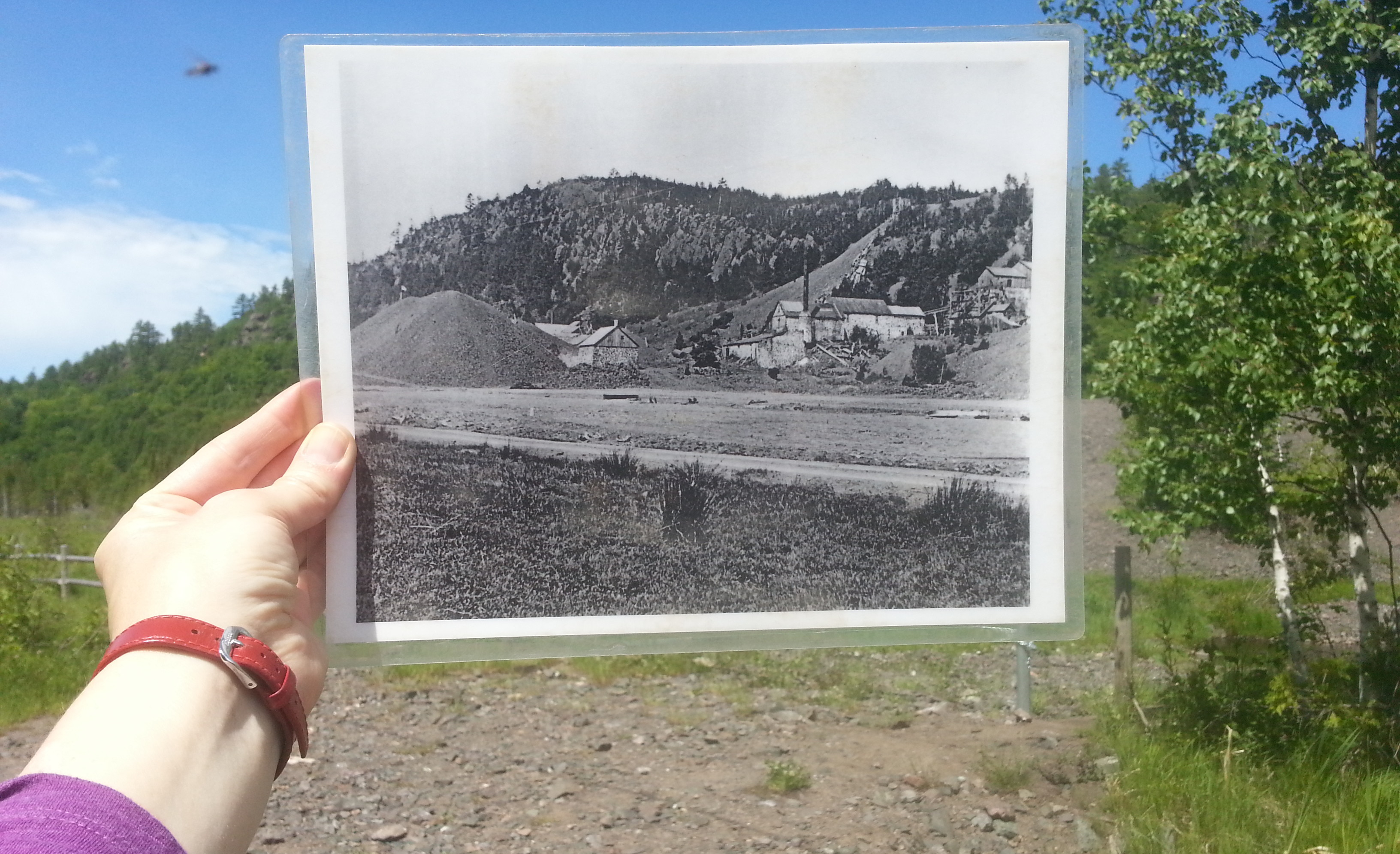 Landscape then and now. It takes expertise to see traces of mining industry in these hills.