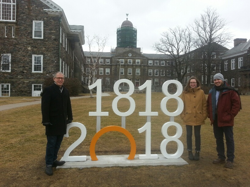 John Parkins, Carolyn Mann and Wes Tourangeau celebrate #Dal200 this week