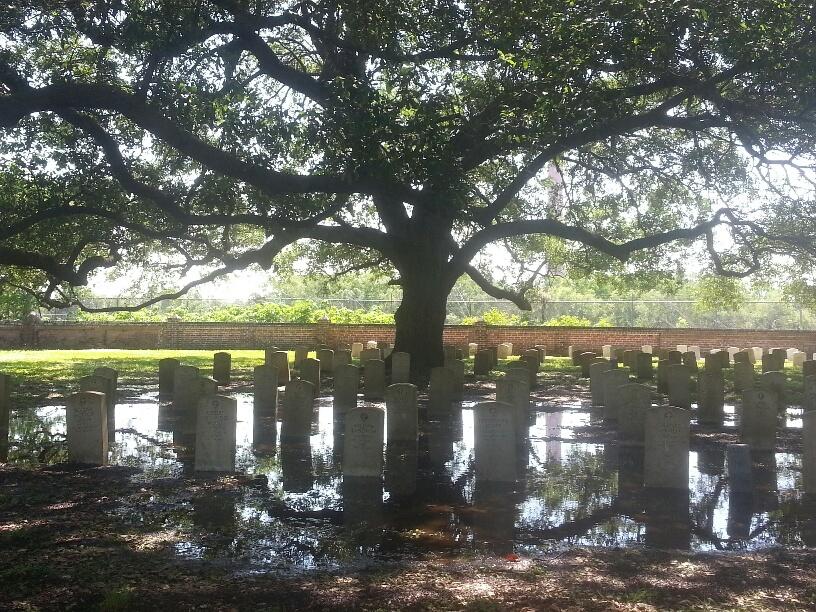 Chalmette Battlefield Cemetery, inundated