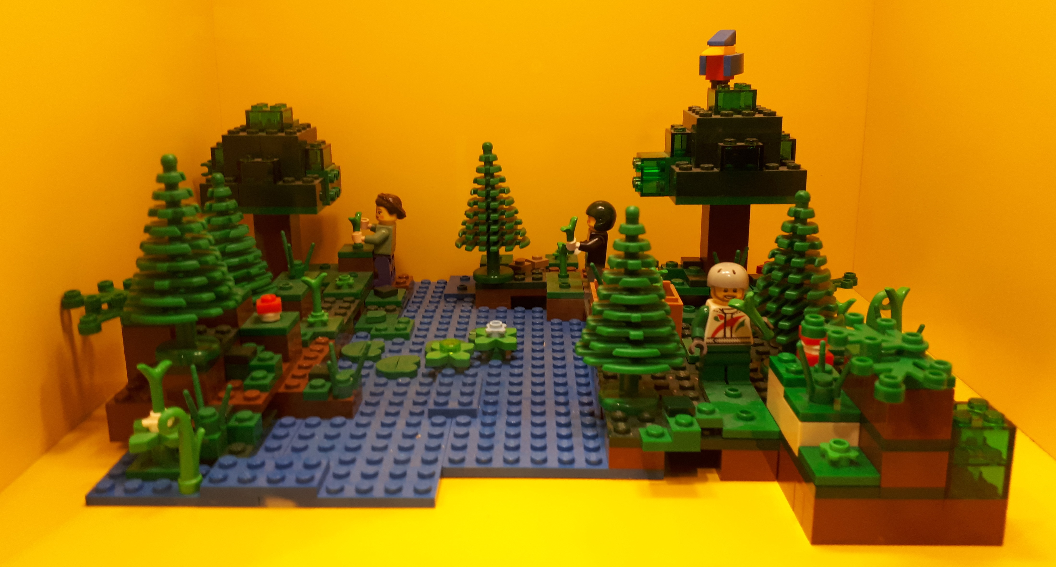 The wonderful irony of using hard, pointy Lego to illustrate living shorelines as an adaptation strategy.