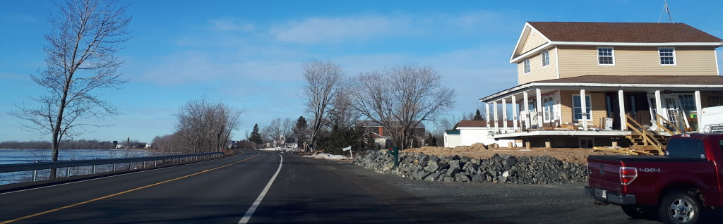Riprap and raising, for this house, Rte 105, Dec 26, 2018.